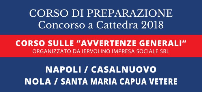Corso di Preparazione Concorso a Cattedra 2018