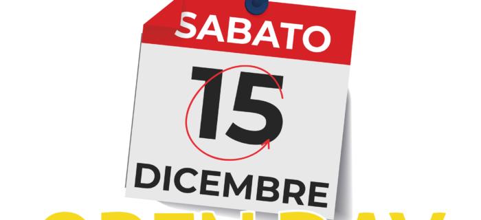 15.12.2018 > OPEN DAY – Corso Arnaldo Lucci, 102
