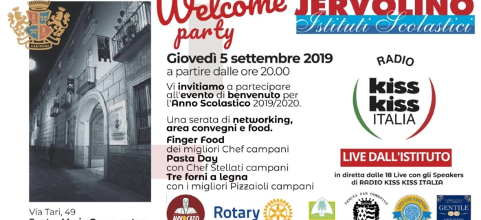 Istituti Scolastici Iervolino presenta WELCOME PARTY 05/09/19
