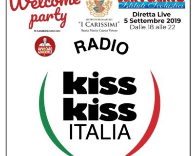 5 settembre | WELCOME PARTY 2019 | IN DIRETTA SU RADIO KISS KISS ITALIA 🎧 dalle 18 alle 22 🎧